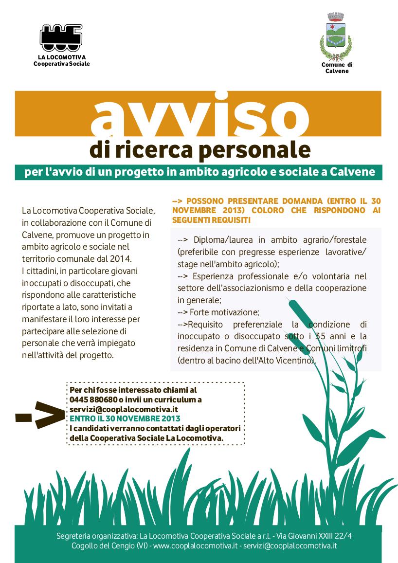 A calvene parte un nuovo progetto in ambito agricolo e sociale - La finestra cooperativa sociale ...