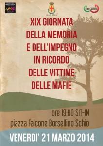 21 Marzo 2014 Giornata della memoria e dell'impegno in ridordo delle vittime delle mafie
