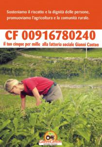 Cinque per mille 2016 alla Fattoria Sociale Gianni Canton