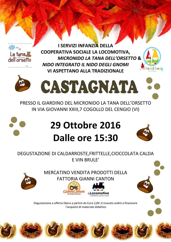 Volantino castagnata 29 ottobre 2016