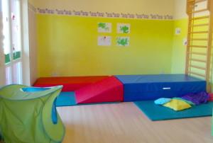 La stanza delle psicomotricità al nido la Tana dell'Orsetto!